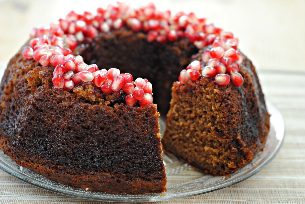 Rosh Hashana Dessert Recipes  Applesauce Cake with Pomegranate Glaze for Rosh Hashanah