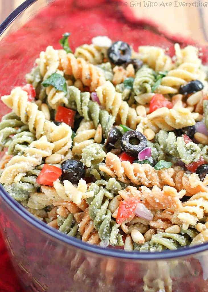 Rotini Pasta Salad  Feta and Ve able Rotini Salad The Girl Who Ate Everything