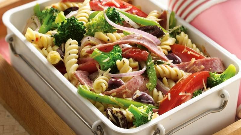 Rotini Pasta Salad  Antipasto Rotini Salad recipe from Betty Crocker