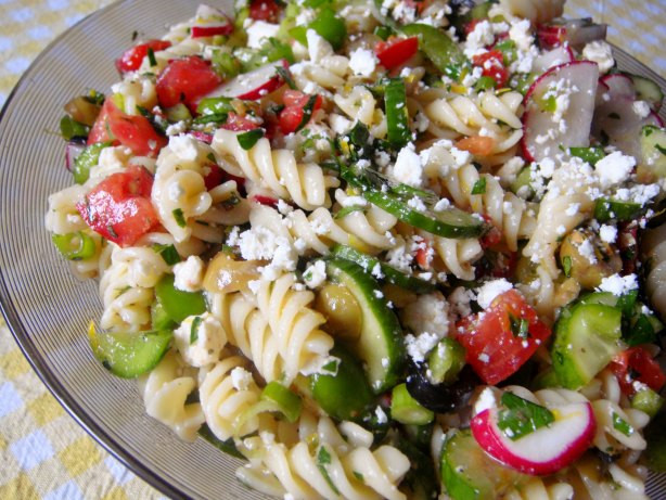 Rotini Pasta Salad  Greek Rotini Salad Recipe Food