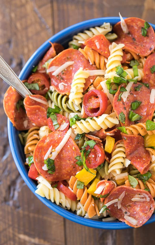 Rotini Pasta Salad  Pepperoni Pasta Salad Recipe