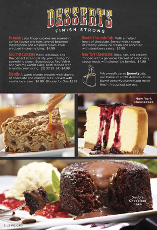 Ruby Tuesday Dessert Menu  71 best images about Menus on Pinterest