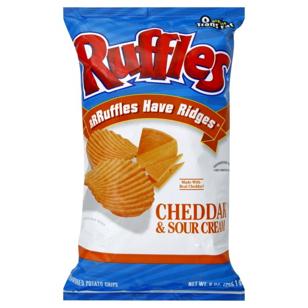 Ruffles Potato Chips  Ruffles Potato Chips Cheddar & Sour Cream
