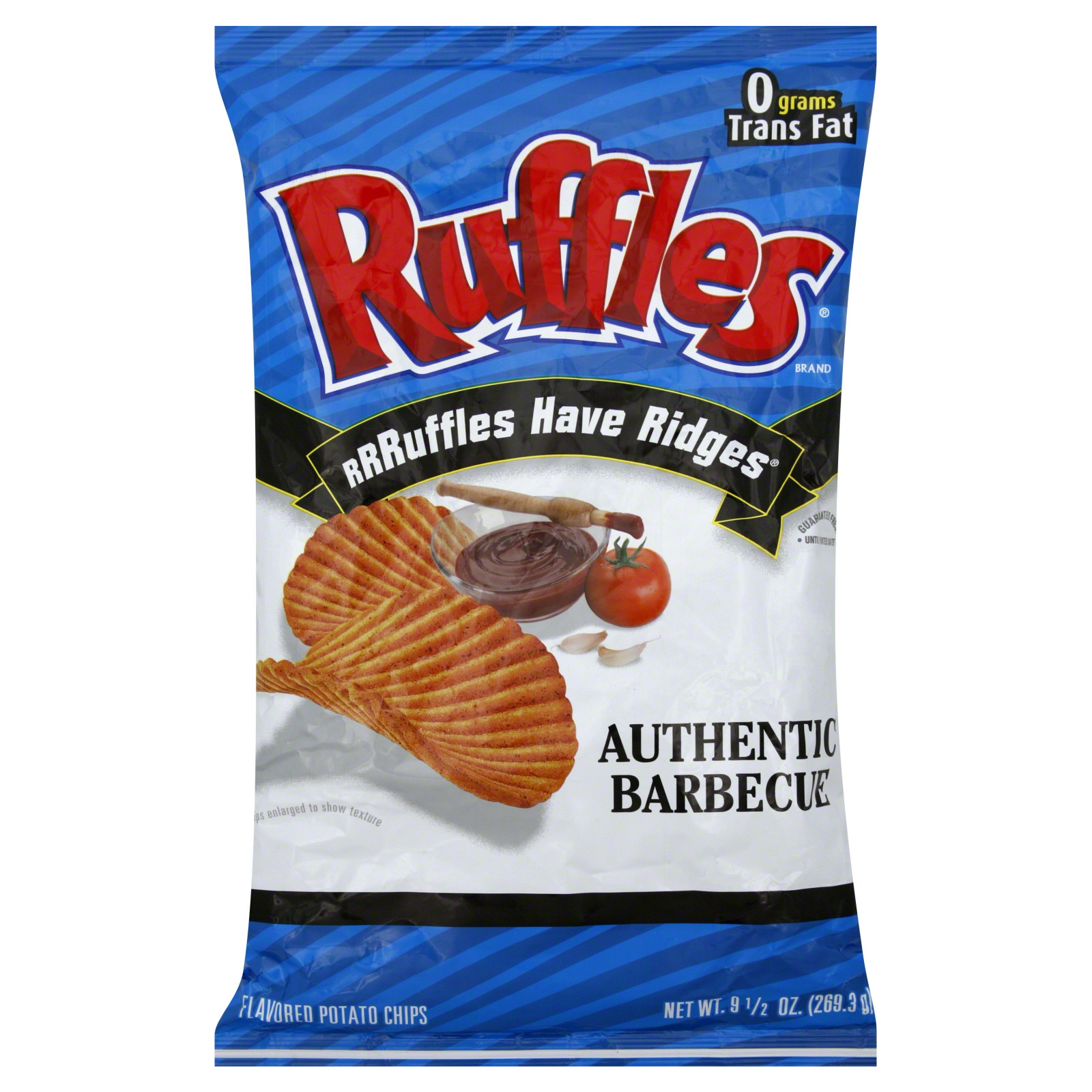 Ruffles Potato Chips  Ruffles Potato Chips Authentic Barbecue Flavored 9 5 oz
