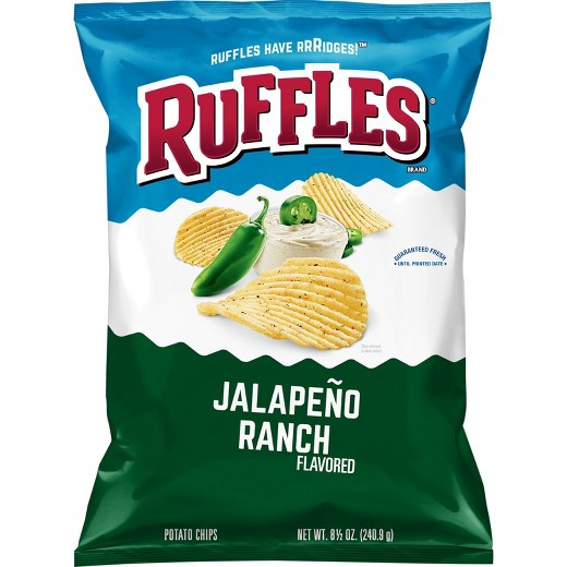 Ruffles Potato Chips  Ruffles Jalapeno Ranch Flavored Potato Chips 8 5oz Tar