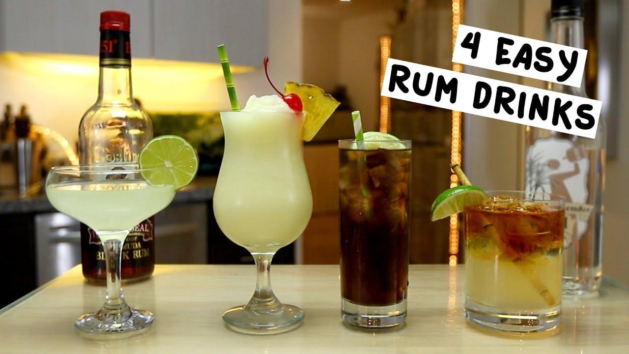 Rum Drinks Simple  Four Easy Rum Drinks
