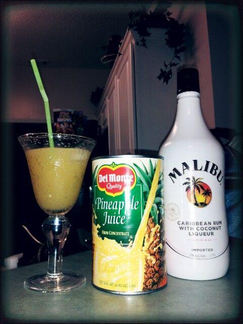 Rum Drinks With Pineapple Juice  Malibu Rum & Pineapple Juice Drinks Pinterest