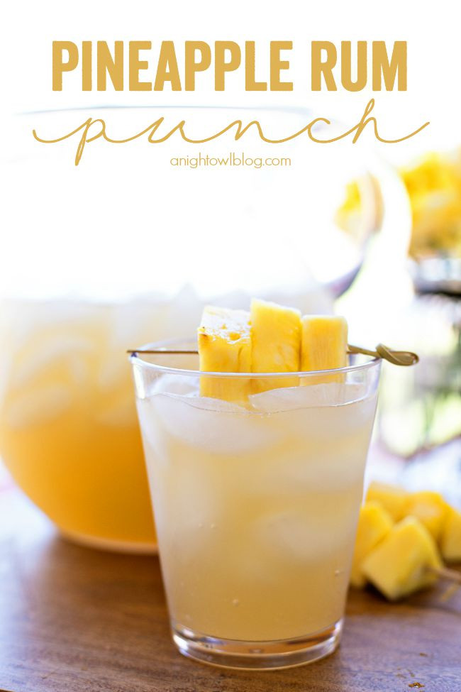 Rum Mixed Drinks  Pineapple Rum Punch