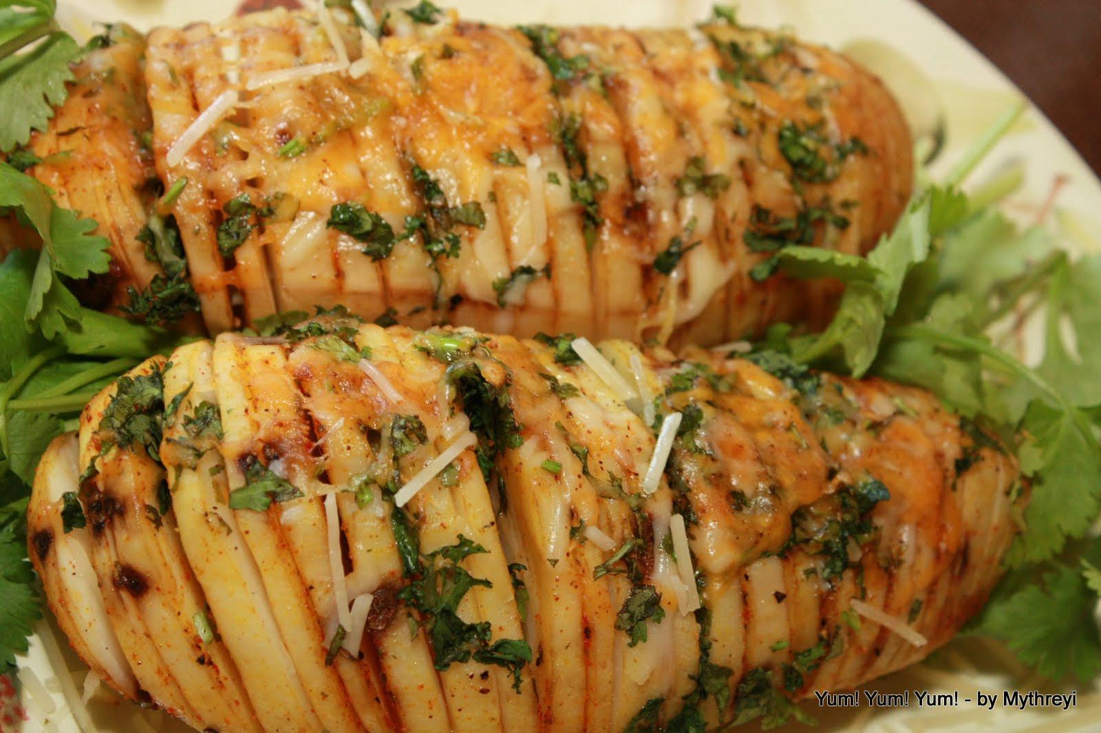 Russet Potato Recipes  Yum Yum Yum Fancy Fanned Potatoes