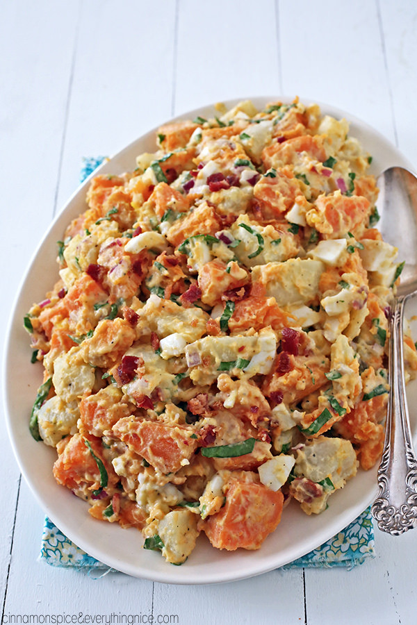 Russet Potato Recipes  Russet and Sweet Potato Salad w Bacon