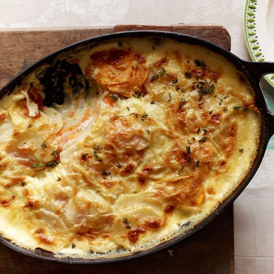 Russet Potato Recipes  Scalloped Russet and Sweet Potatoes