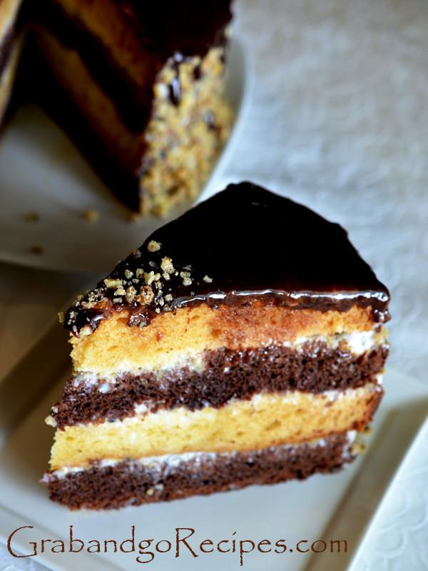 "Russian Dessert Recipes  ""Day and Night"" Cake торт ""День и Hочь"""
