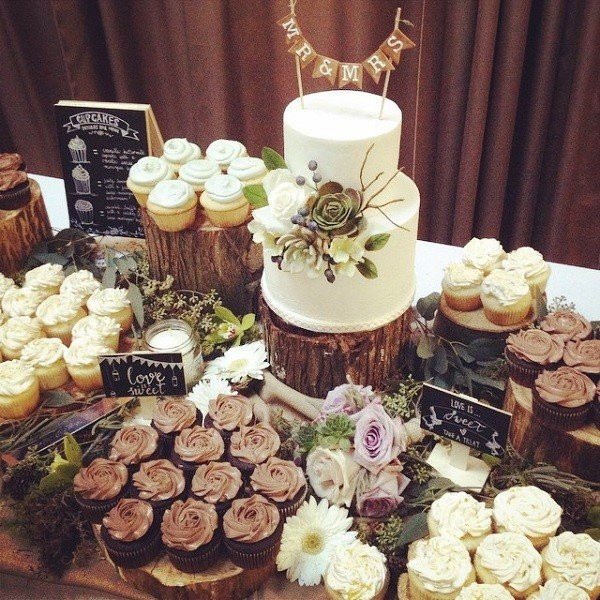 Rustic Dessert Table  16 Country Rustic Wedding Dessert Table Ideas Page 4 of