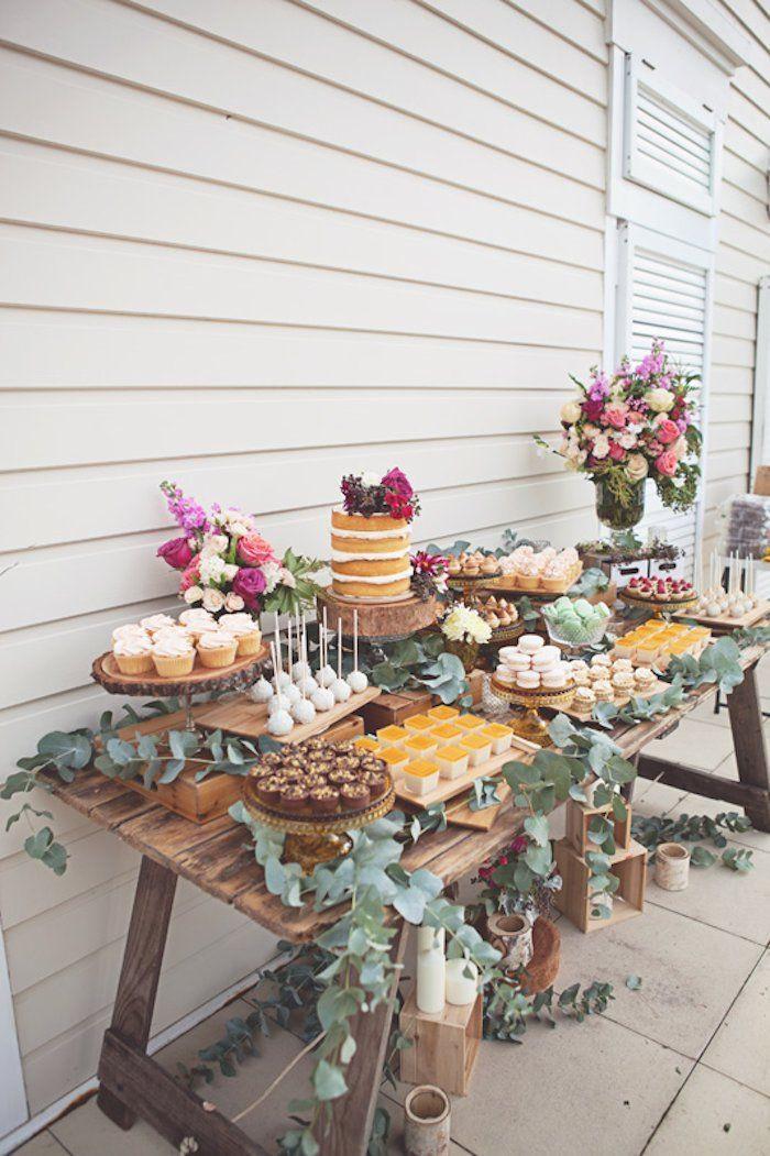 Rustic Dessert Table  Wedding Dessert Table Ideas MODwedding