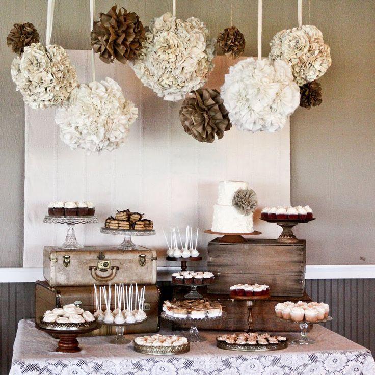 Rustic Dessert Table  Planning a DIY Wedding 5 Simple Dessert Table Ideas