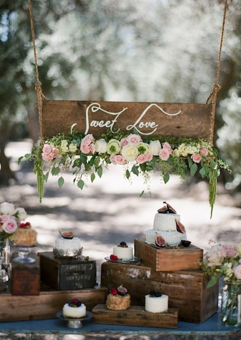 Rustic Dessert Table  Savannah Wedding Planning and Bridal Boutique Ivory and