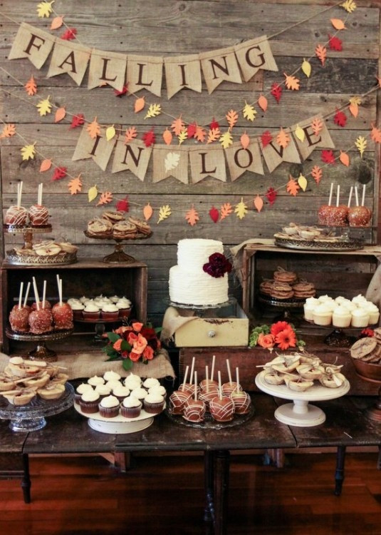 Rustic Dessert Table  Sweeten Up Your Wedding Reception Dessert Tables and