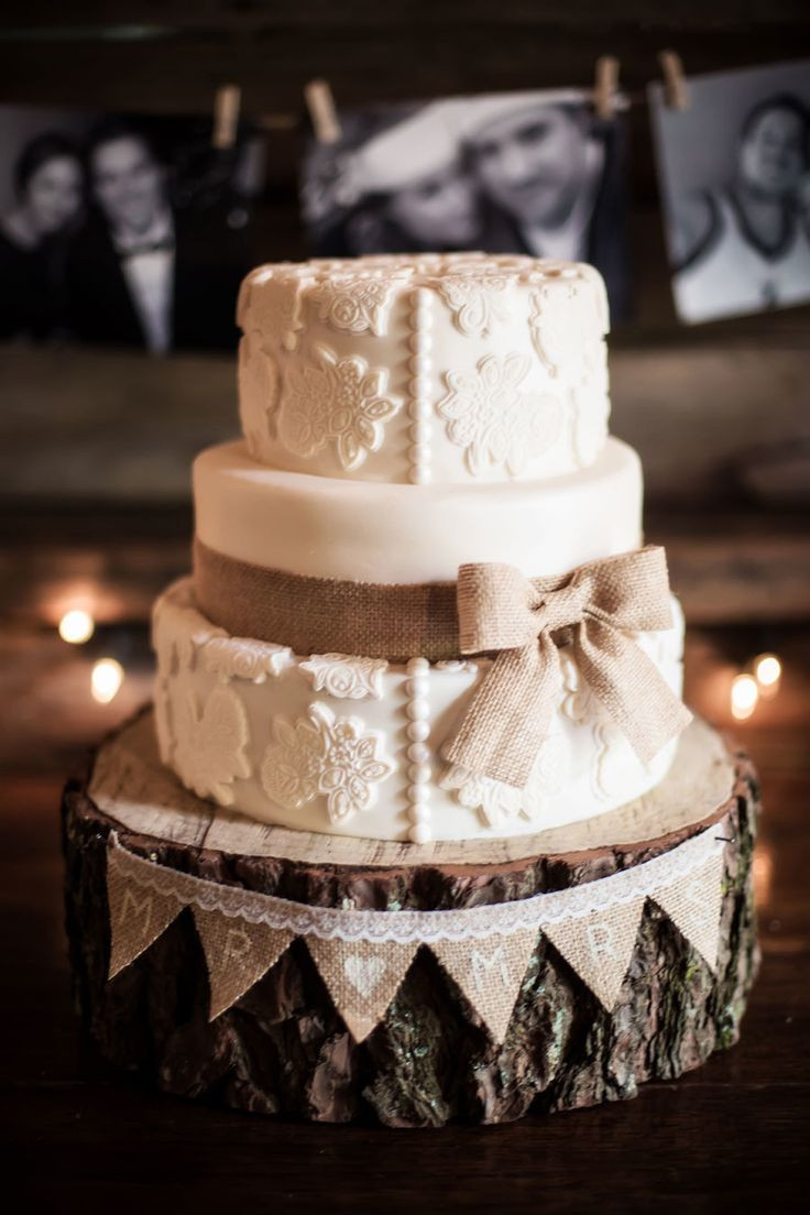 Rustic Wedding Cakes  45 Chic Rustic Burlap & Lace Wedding Ideas and Inspiration