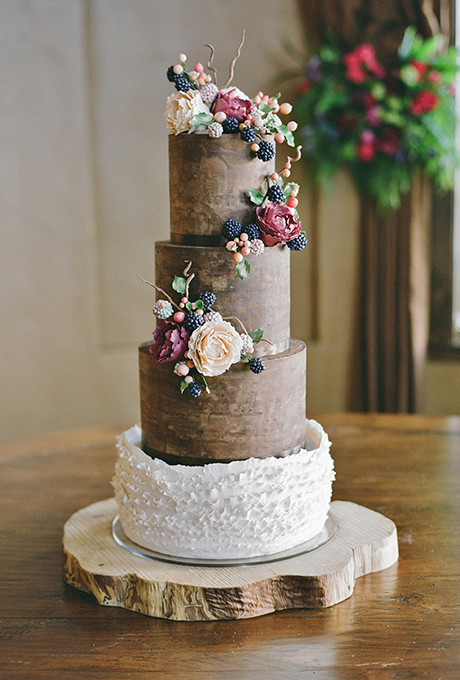 Rustic Wedding Cakes  Floral Wedding Cakes