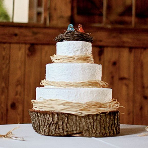 Rustic Wedding Cakes  Simple Country Wedding Cakes Wedding and Bridal Inspiration