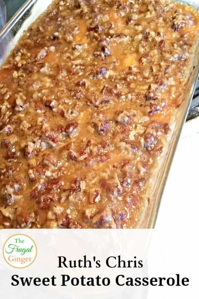 Ruth Chris Sweet Potato Casserole  Ruth s Chris Sweet Potato Casserole