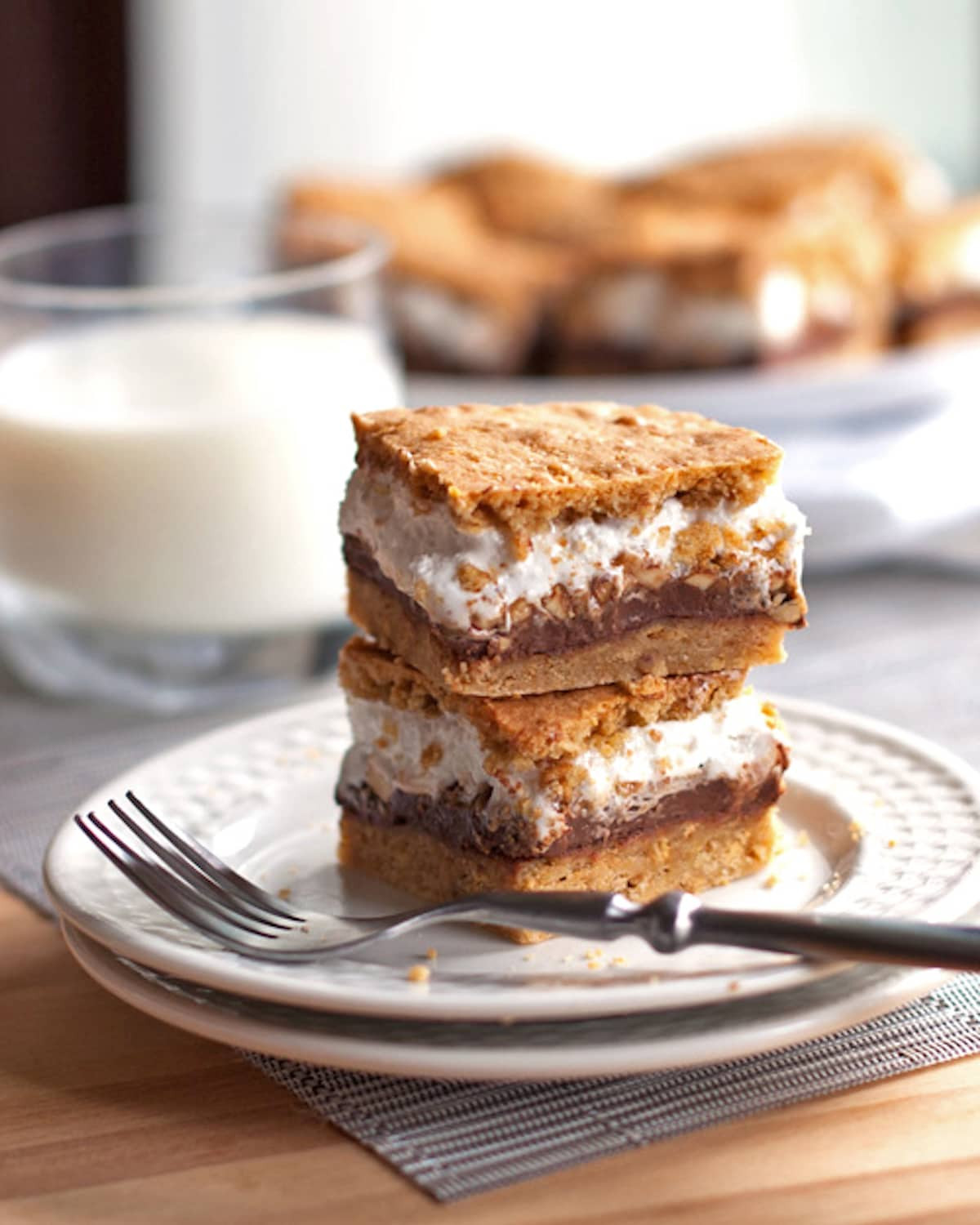 S Mores Dessert Bars  Peanut Butter S mores Bars Recipe Pinch of Yum