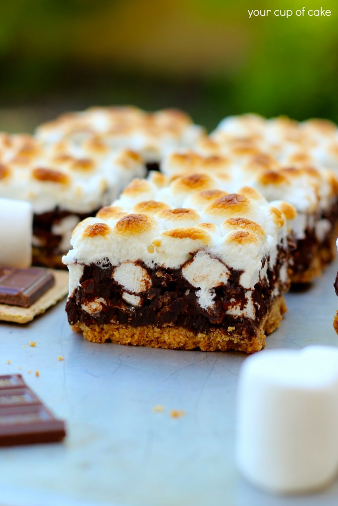 S Mores Dessert Bars  S mores Bars Your Cup of Cake