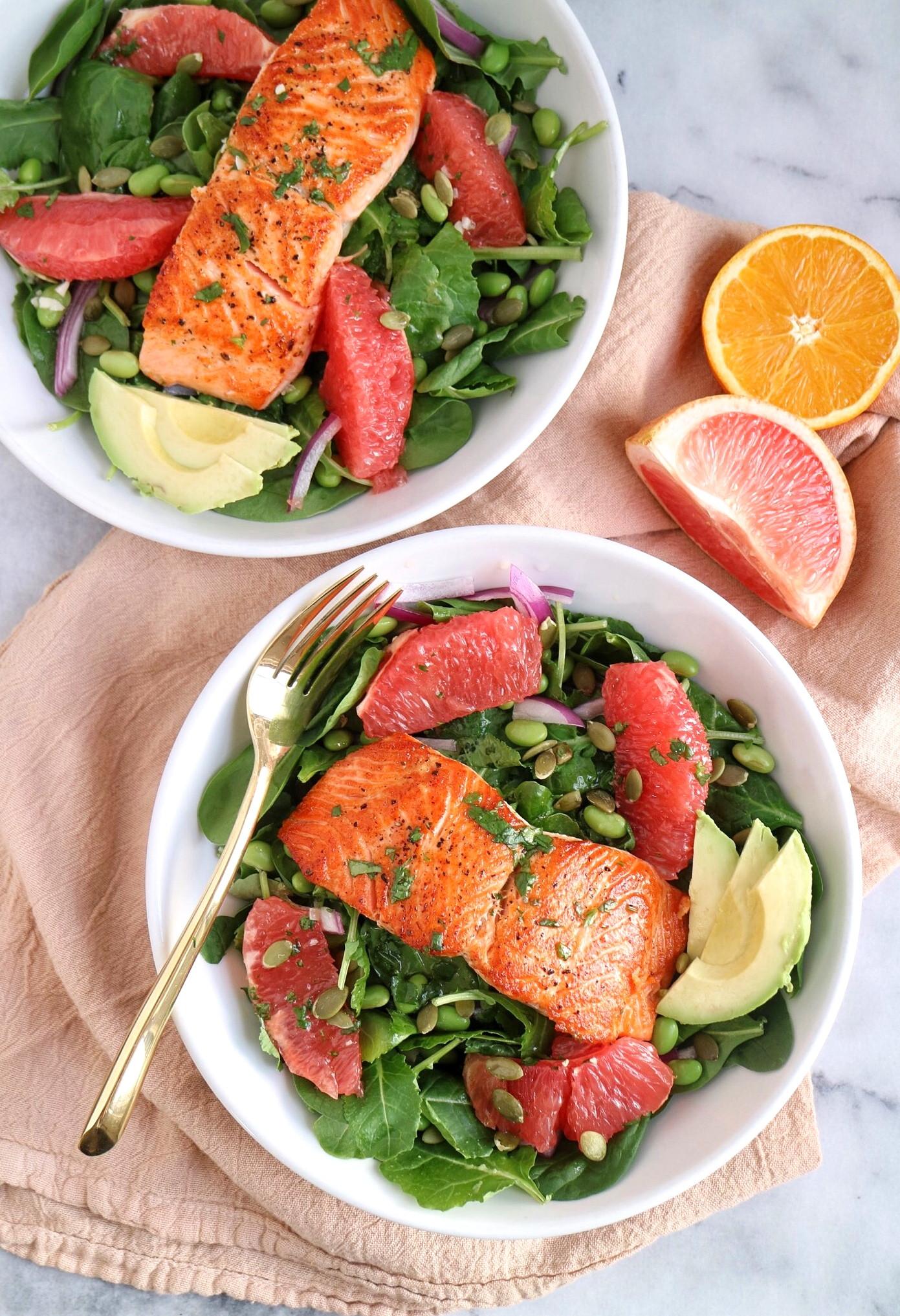 Salad With Salmon  Grapefruit Salmon Salad