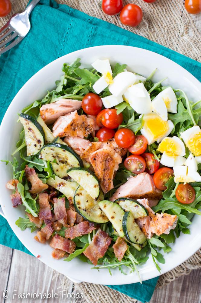 Salad With Salmon  Grilled Salmon Cobb Salad
