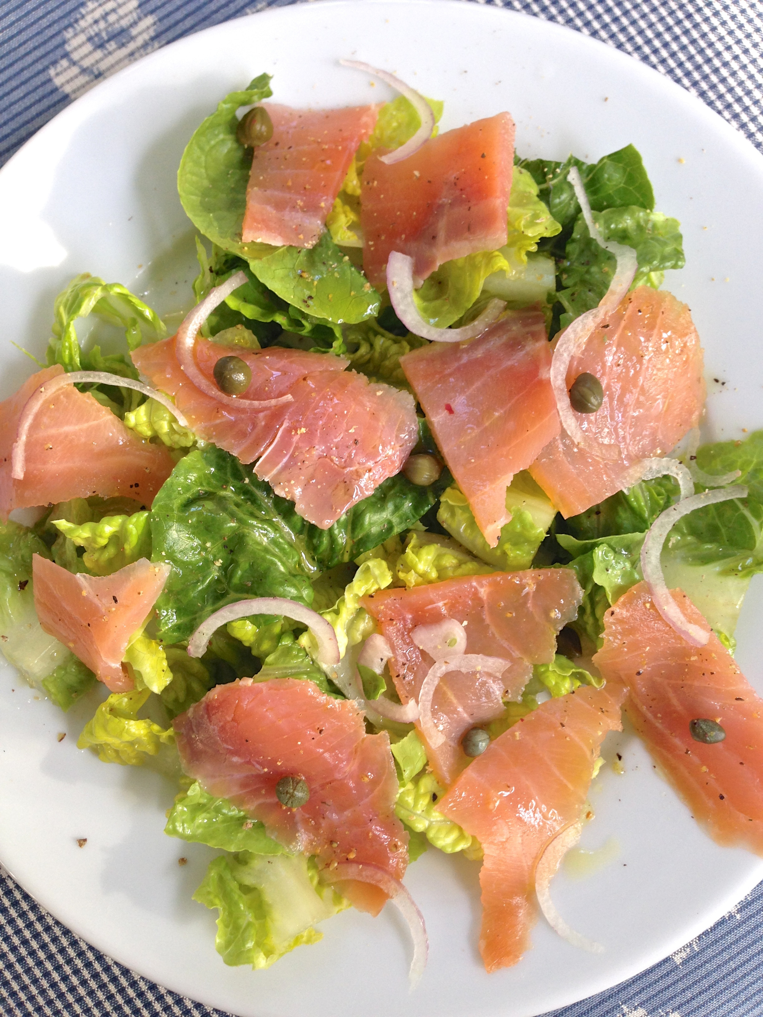 Salad With Salmon  Romaine Salad with Smoked Salmon Laughter and Lemonade