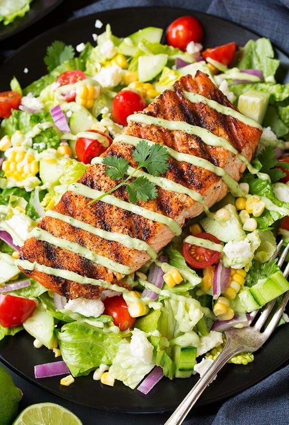 Salad With Salmon  Salmon Salad Recipe — Dishmaps