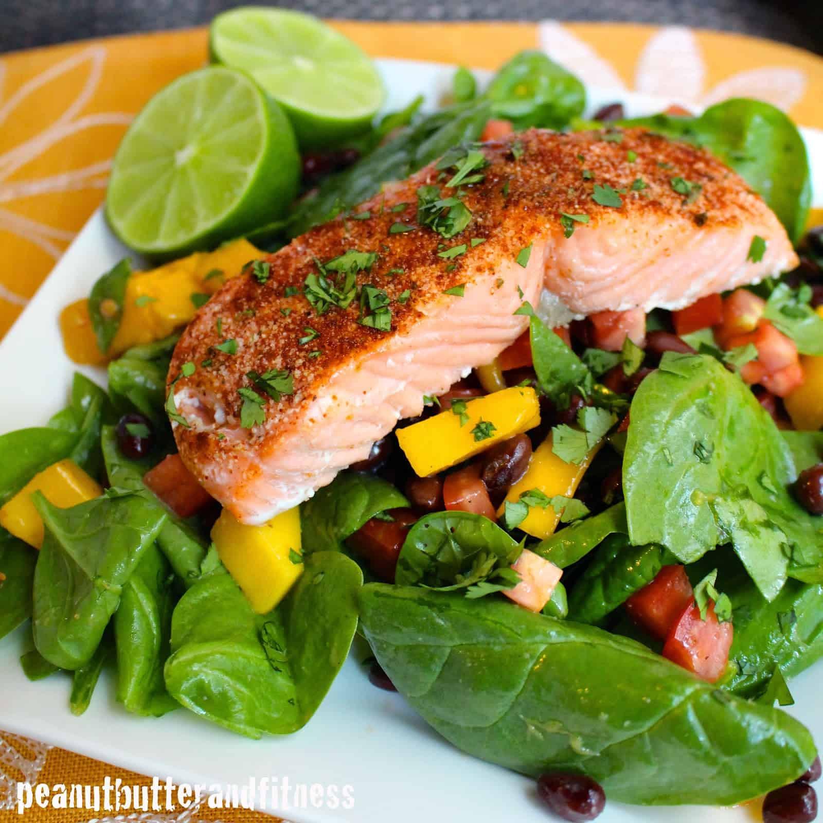 Salad With Salmon  Chili Lime Salmon Salad and Meal Prep Ideas Peanut