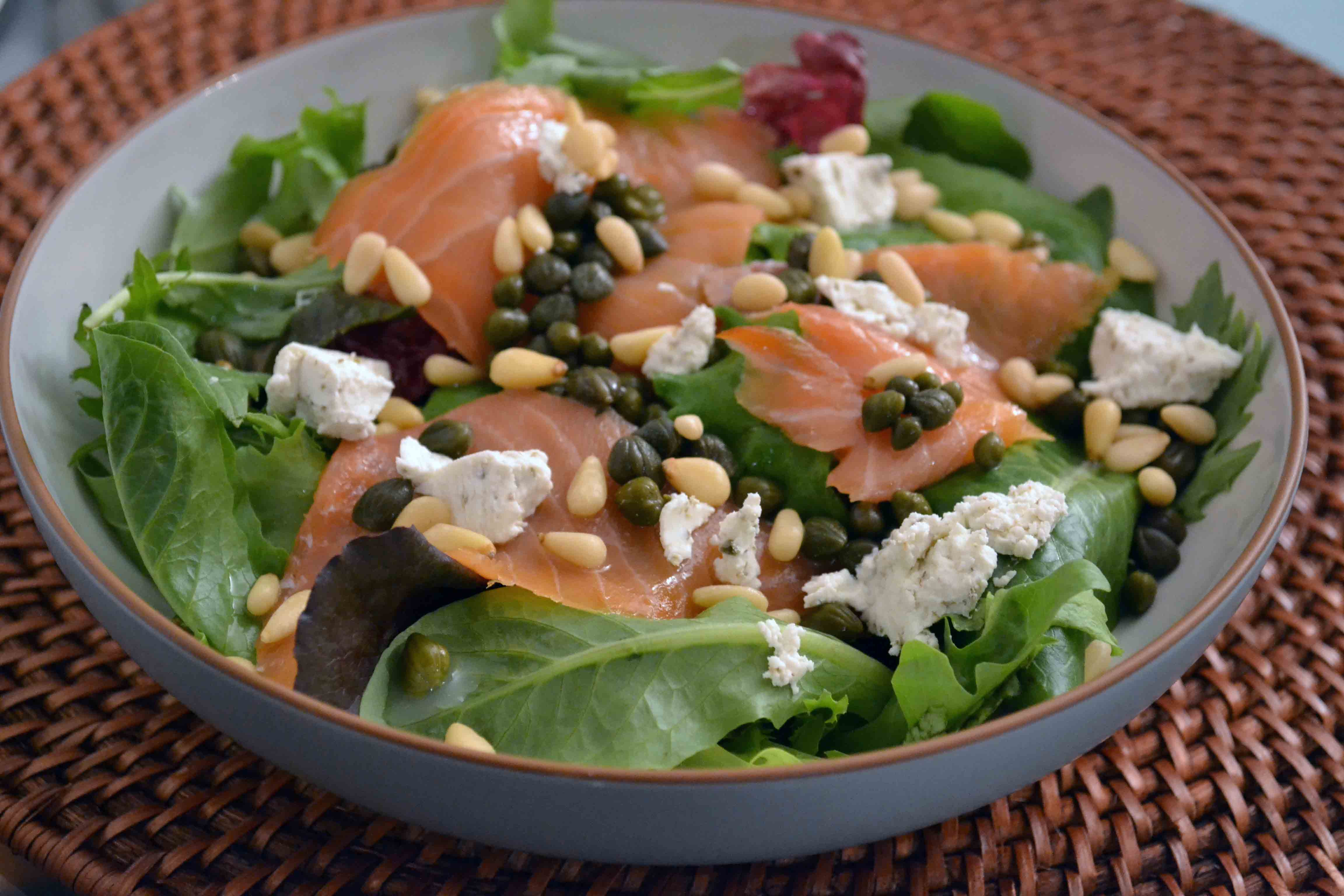 Salad With Salmon  Salmon Recipes Oven with Sauce Grilled Easy for Christmas