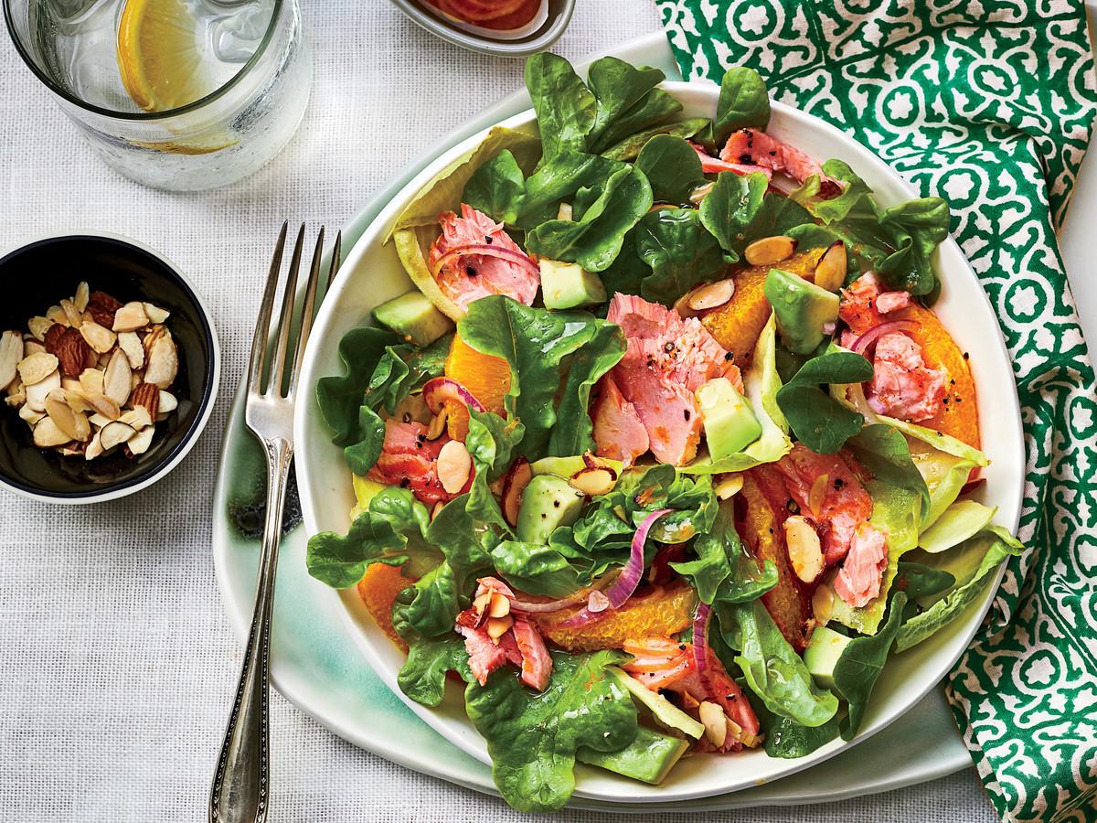 Salad With Salmon  Citrus Salmon Salad Recipe Southern Living
