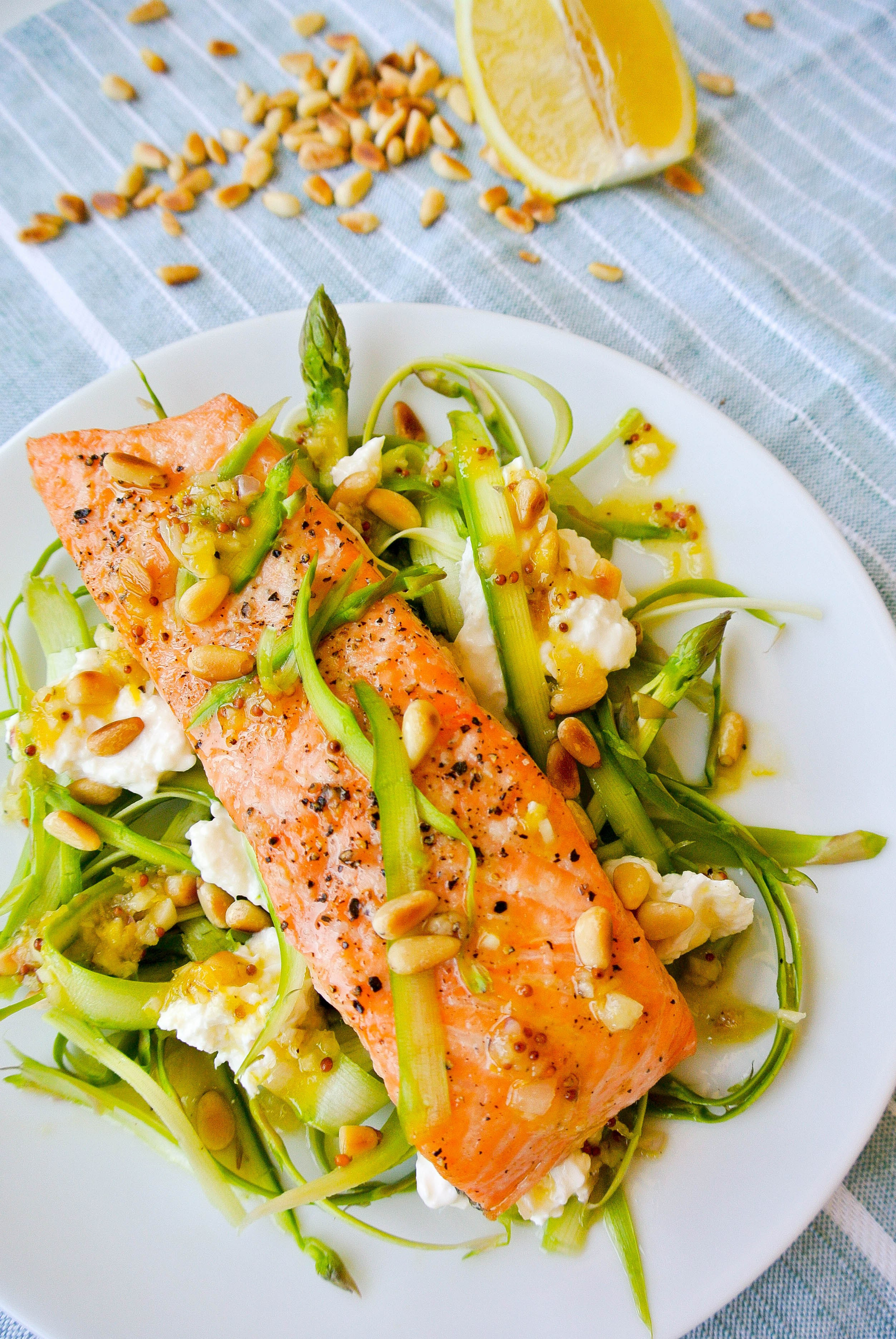 Salad With Salmon  shaved asparagus salad with salmon kelly s ambitious