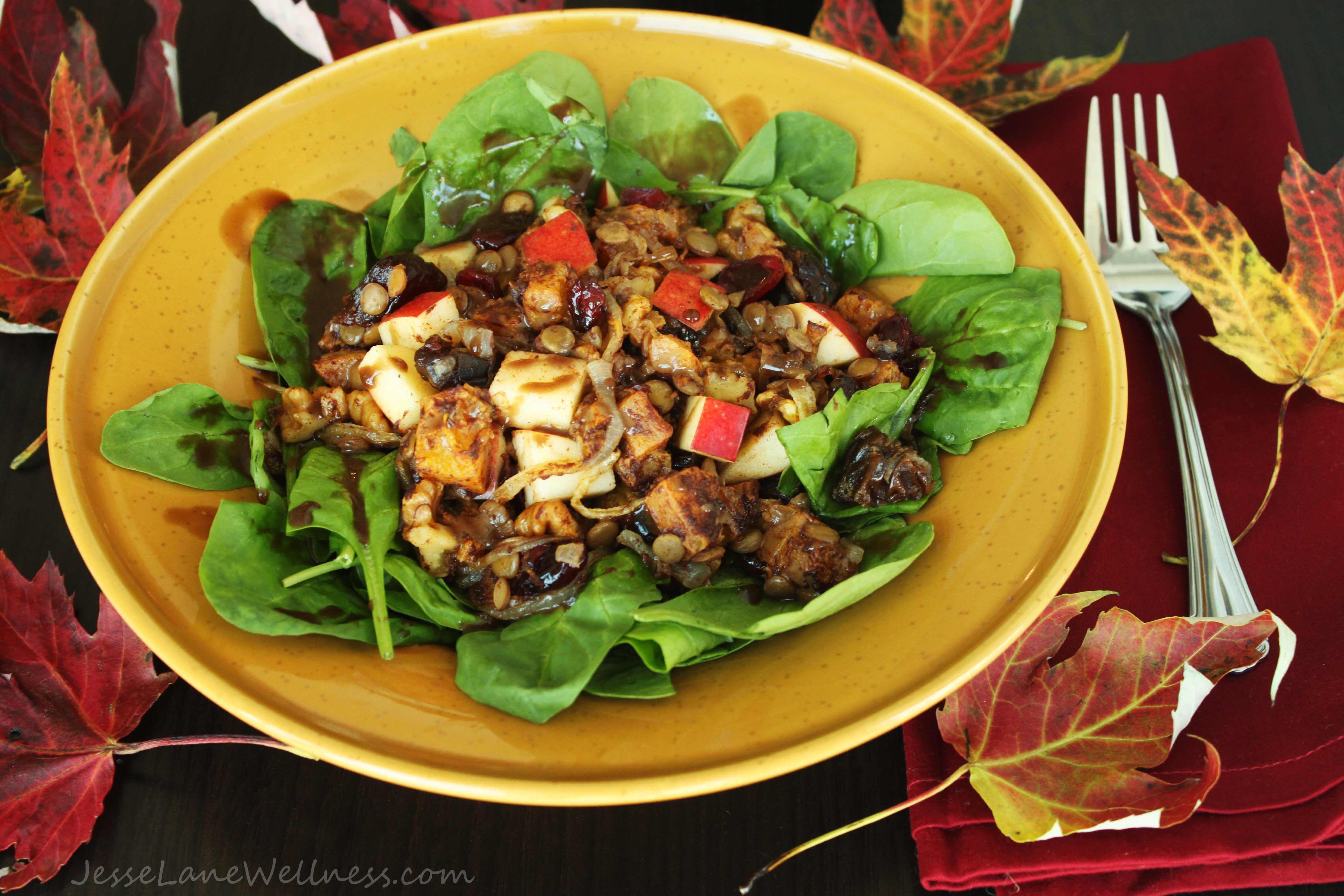 Salads For Thanksgiving  Sweet Autumn Salad Vegan by Jesse Lane Wellness