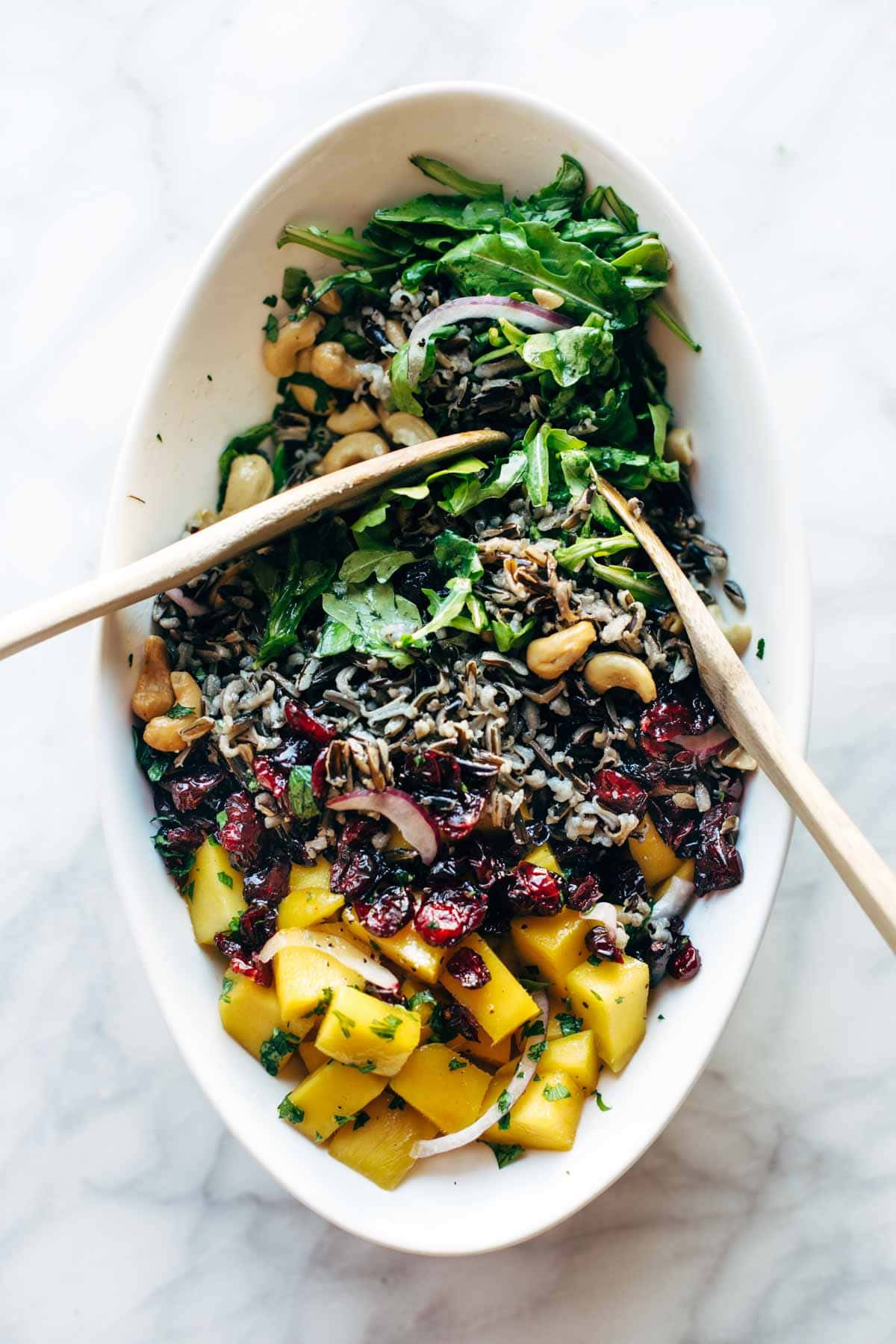 Salads For Thanksgiving  Thanksgiving Salad with Wild Rice and Lemon Dressing