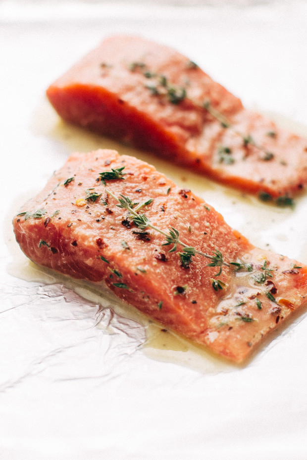 Salmon And Sweet Potato  Lemon Roasted Salmon with Sweet Potatoes Recipe