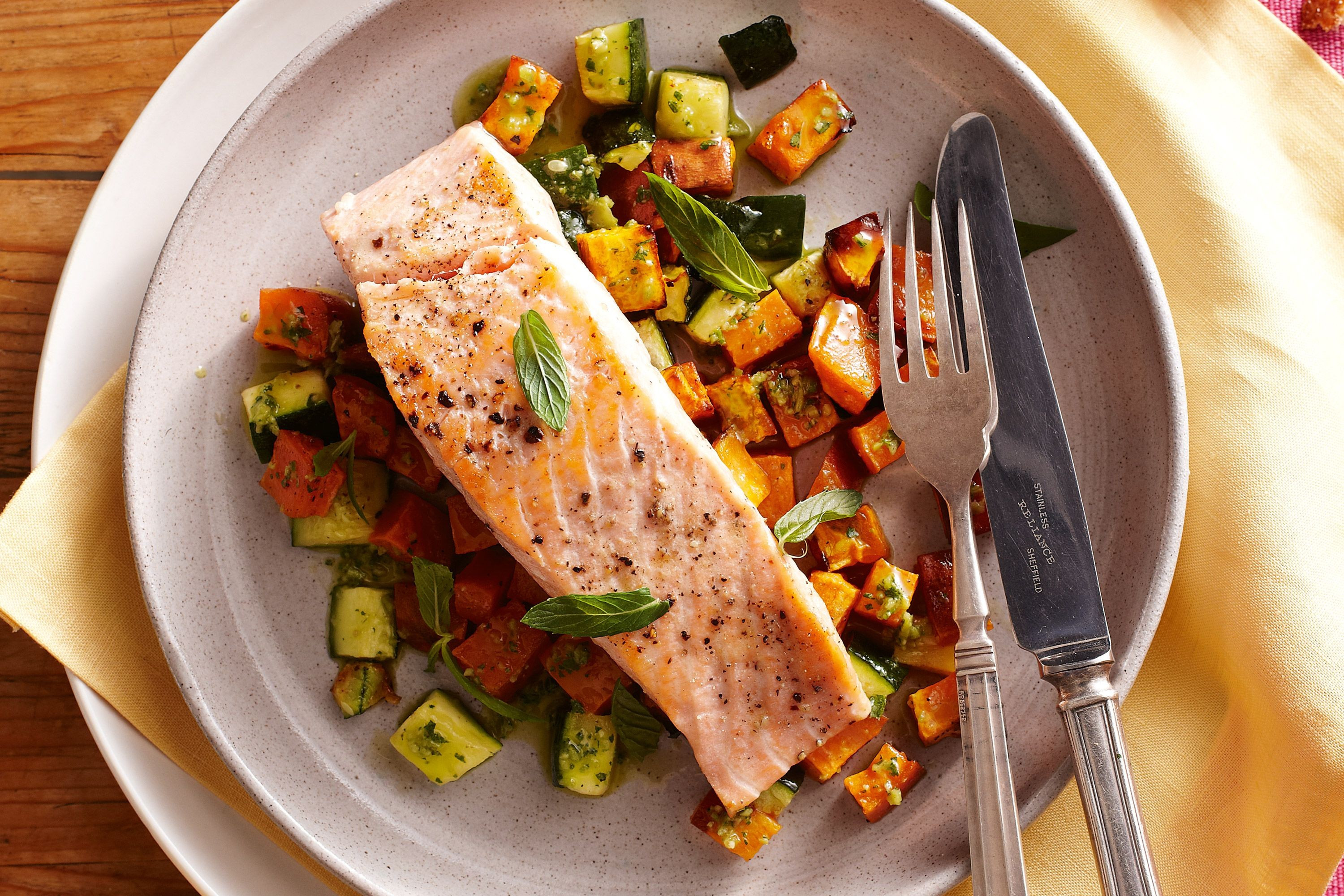 Salmon And Sweet Potato  Asian Salmon & Sweet Potato Traybake – Clean Lean