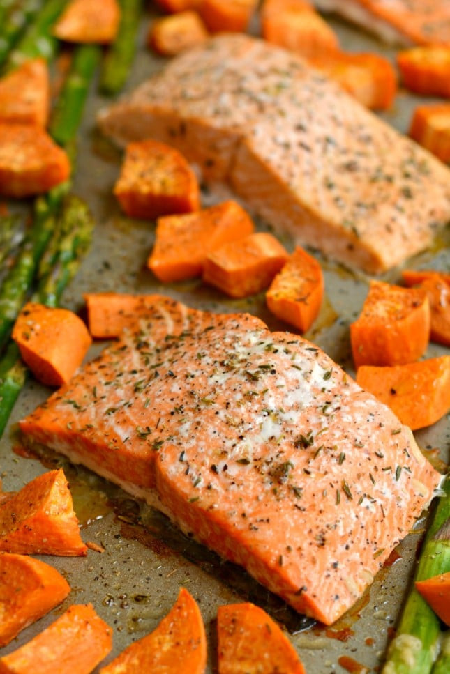 Salmon And Sweet Potato  e Pan Baked Salmon Asparagus Sweet Potato Skinny