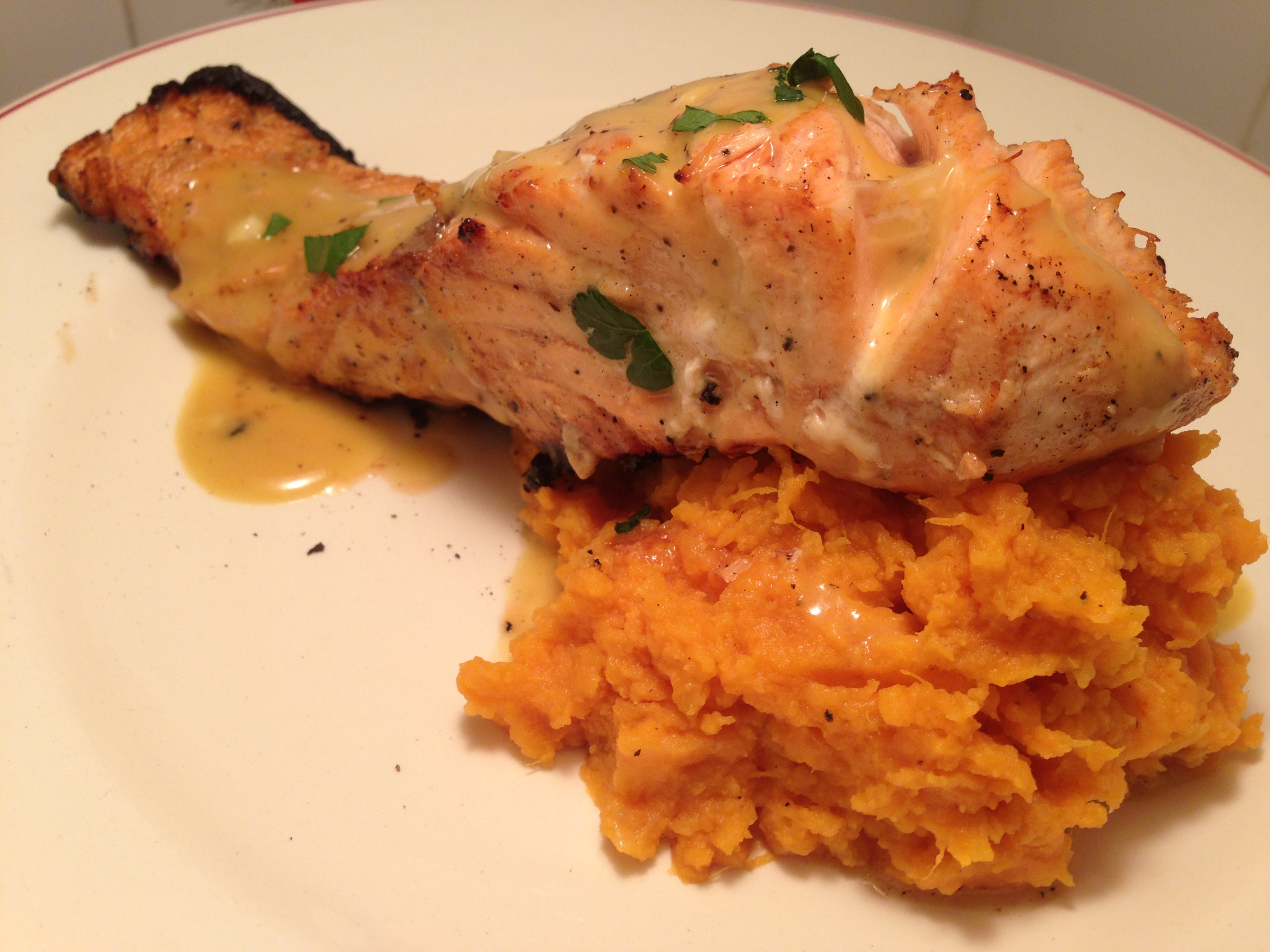 Salmon And Sweet Potato  Honey Dijon Glazed Salmon – Fieldhouse Kitchen