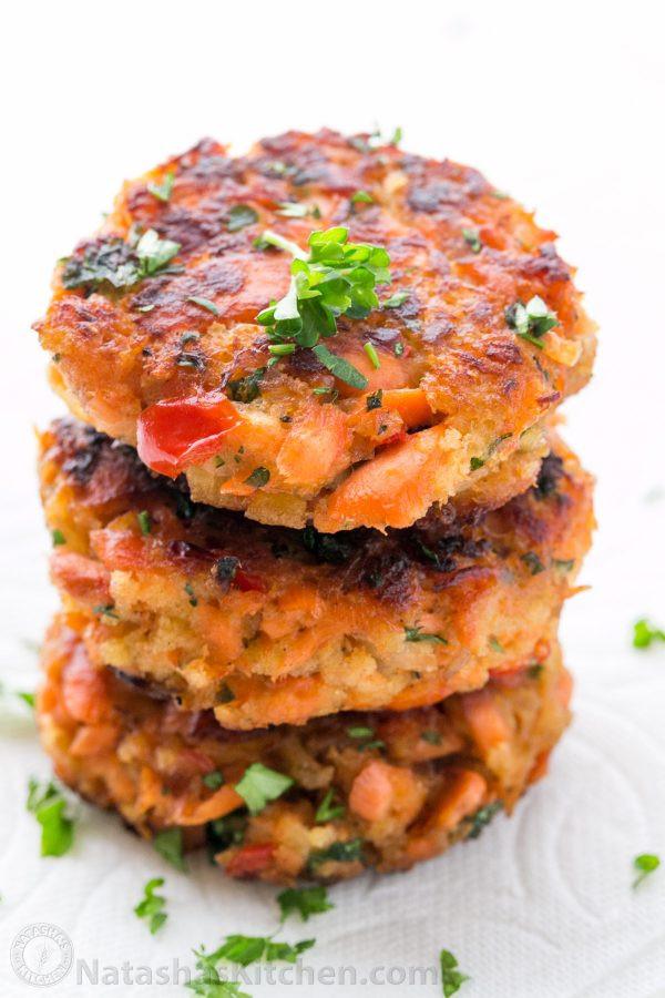 Salmon Cake Recipe  Salmon Cakes Recipe Salmon Patties Natasha s Kitchen