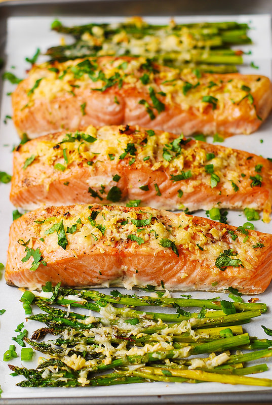 Salmon Dinner Ideas  Garlic Parmesan Crusted Salmon and Asparagus Julia s Album