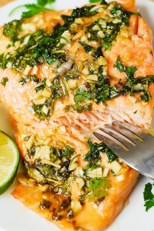 Salmon Dinner Ideas  Cilantro Lime Honey Garlic Salmon baked in foil Julia