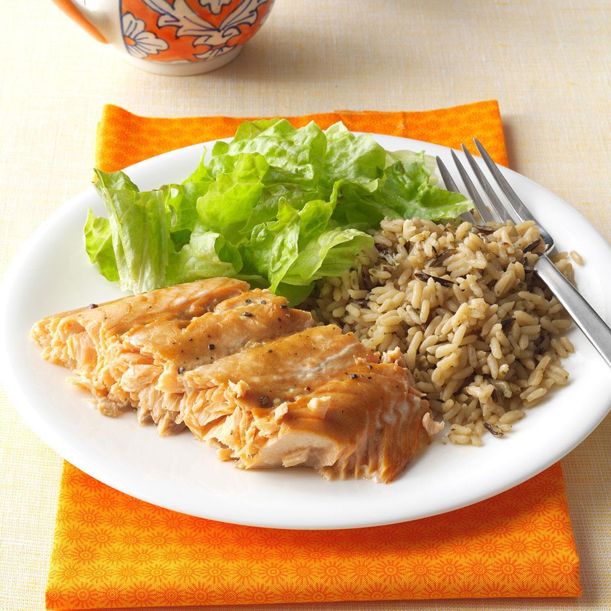 Salmon Dinner Ideas  Salmon with Brown Sugar Glaze Recipe