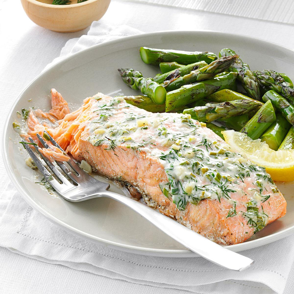 Salmon Dinner Ideas  Creamy Herb Grilled Salmon Recipe