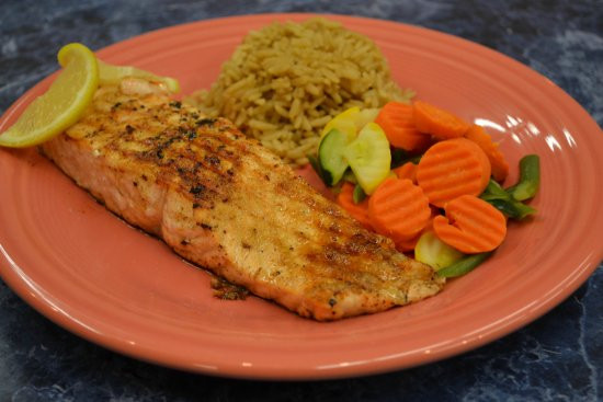 Salmon Dinner Sides  Grilled Salmon dinner with your choice of two sides