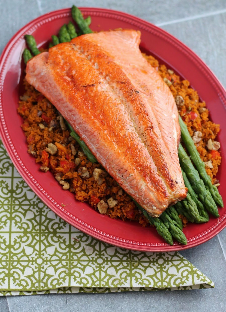 Salmon Dinner Sides  Frugal Foo Mama Pan Seared Salmon with Asparagus