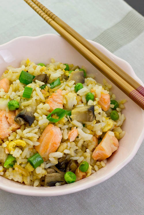 Salmon Fried Rice  10 Quick And Healthy Salmon Recipes For Busy People