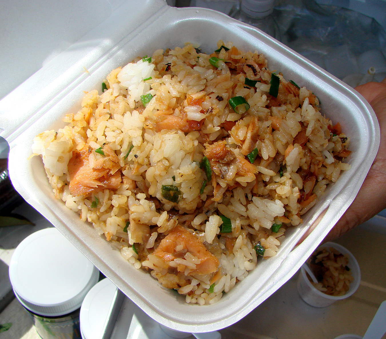 Salmon Fried Rice  Another Great Saturday at KCC Farmers Market – Tasty Island